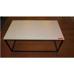 "Coffee Table w/Metal Base, Composite Top 42""L x 23.5""W x 18""H"