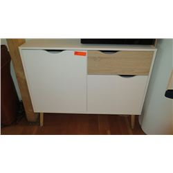 "Two-Toned Cabinet w/Top Drawer, Multiple Shelves 39""L x 15.5""D x 32.5""H"