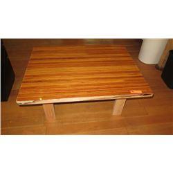 Custom Coffee Table w/Glazed Wood Top