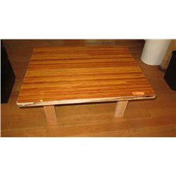 "Custom Coffee Table w/Glazed Wood Top 40""L x 32""W x 18""H"