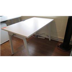 """White Compact Desk 47""""L x 27""""W x 29""""H"""