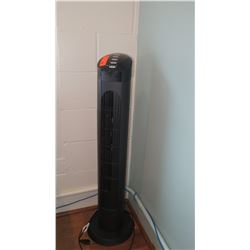 Cascade Black Tower Fan w/ Remote Control
