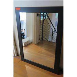 """Black Framed Mirror 30""""W x 40""""H"""