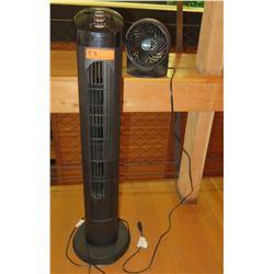 Black Tower Fan & Vornado Desk Fan