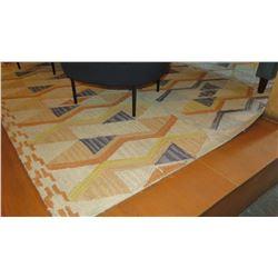 Woven Rug, Geometric Yellow/Blue Pattern 11' x 8'