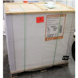 Qty 1 Pallet Pacesetter 20 x 26 Silk Cover Paper 8000 Sheets