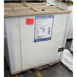 Qty 1 Pallet Pacesetter 40 x 26 Gloss Cover Paper 4500 Sheets
