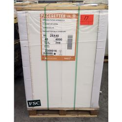 Qty 1 Pallet Pacesetter 28 x 40 Silk Cover Paper 4000 Sheets