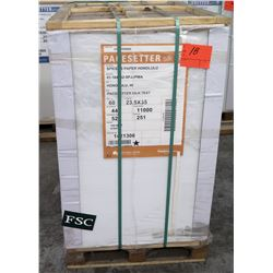 Qty 1 Pallet Pacesetter 23.5 x 35 Silk Text Paper 11,000 Sheets