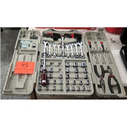 Tool Set in Hard Case - Sockets, Wrenches, Wire Cutters, etc