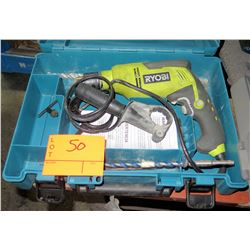 Ryobi Power Drill in Metal Case