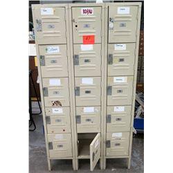 Republic Steel Metal Cabinet w/ 15 Individual Storage Lockers