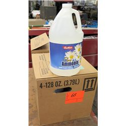 Qty 2 Cases of 4 each 128 oz (3.79 L) Austin's Clear Ammonia