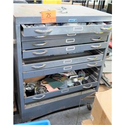 Foster Metal Rolling Tool Cabinets w/ Tools in Drawers