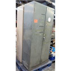 Metal Standing 2 Door Cabinet w/ 5 Shelves