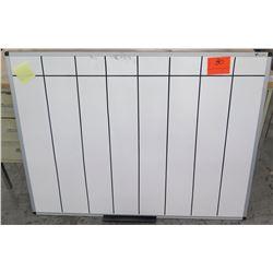 White Dry Erase Board Aluminum Framed