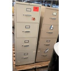 Qty 2 Beige 4 Drawer File Cabinets