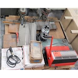 Ibico Binding Machine, Spinnet Paper Drill, Cables, etc