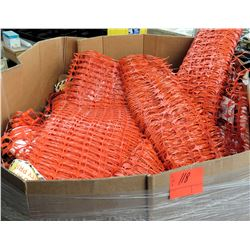 Qty 1 Box Orange Safety Netting Construction Fence