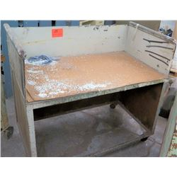 Metal Rolling Shop Cart w/ Bottom Shelf Storage