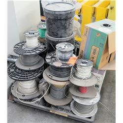 Case Cat 1000 Ft Cable, 9 Reels Misc Cable, 2 Drums, etc