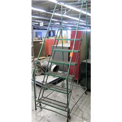 Foster Equipment Angle Rolling Mobile 7 Step Steel Safety Ladder