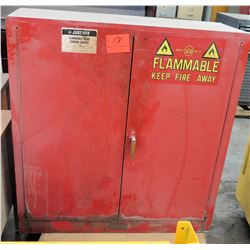 Justrite Flammable Liquid Red Storage Cabinet 40 Gallon Capacity