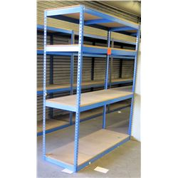 qty 8 Blue Metal 3 Shelf Shop Shelving Storage Unit