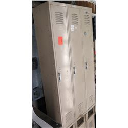 Qty 1 Unit w/ 3 Metal Storage Lockers