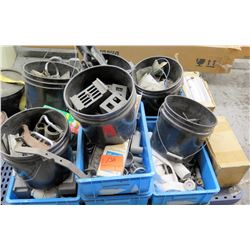 Misc Buckets Spanner Wrench, Repair Parts, Nylon Straps, etc