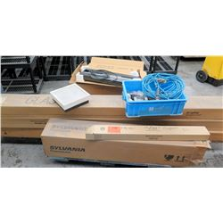 Sylvania & Ge Lighting Fluorescent Lights in Box, Prism Lamp, etc