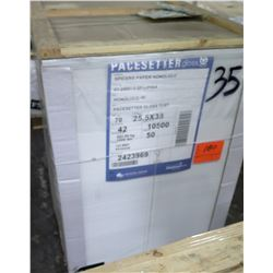 Qty 1 Pallet Pacesetter 25.5 x 38 Gloss Text Paper 10,500 Sheets