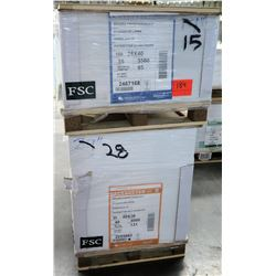 Qty 2 Pallets Pacesetter Gloss Cover & Silk Cover Paper