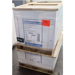 Qty 2 Pallets Pacesetter Gloss Text 24 x 26 & Gloss Cover 26 x 40 Paper