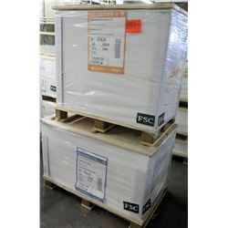 Qty 2 Pallet Pacesetter Silk Cover & Gloss Cover Paper