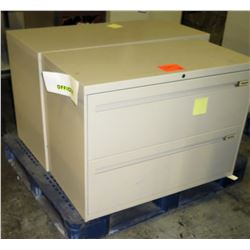 Qty 2 Metal Lateral Legal 2 Drawer Filing Cabinets
