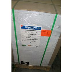 Qty 1 Pallet Hankuk New Clean Uncoated Offset 19 x 25 Paper 14,000 Sheets