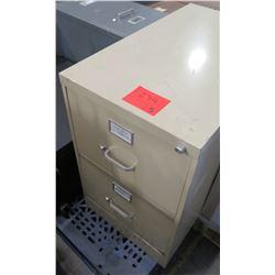 Qty 3 Misc Metal File Cabinet - 1 Short 2 Drawer, etc