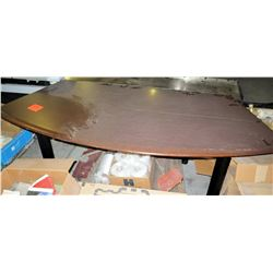 Curved Wood Shop Wooden Table
