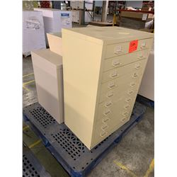 Metal 5-Drawer Blueprint File Cabinet, 2-Door Lateral File Cabinet & Light-Up Box