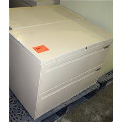 Qty 3 Metal 2 Drawer Lateral Legal File Cabinets