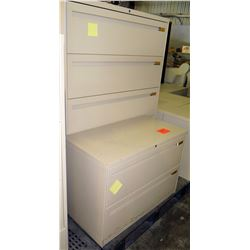Metal 4 Drawer Lateral Legal File Cabinet & 2 Drawer Lateral Cabinet