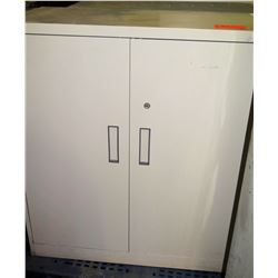 Qty 2 Metal Storage Cabinet w/ 2 Doors