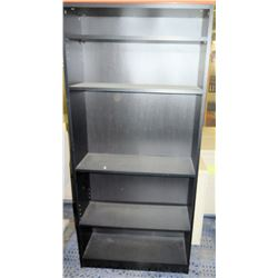 Tall Black 5 Tier Shelving Unit Shelf