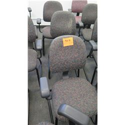 Qty 3 Office Desk Chairs w/ Arm Rests