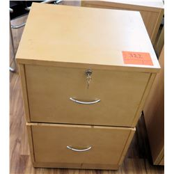Wood 2 Drawer Rolling File Cabinet