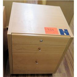 Wood 3 Drawer Rolling File Cabinet on Wheels