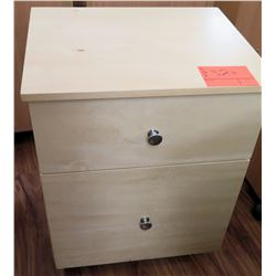 Wood 2 Drawer Rolling File Cabinet on Wheels