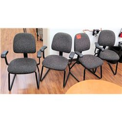 Qty 4 Office Desk Chairs w/ Arm Rests