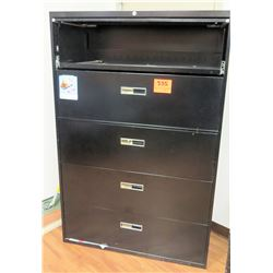 Metal 4 Drawer Lateral Legal Brown File Cabinet